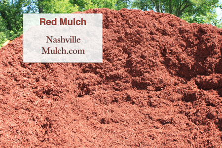 Nashville Red Mulch Pile Image at a Mulch yard
